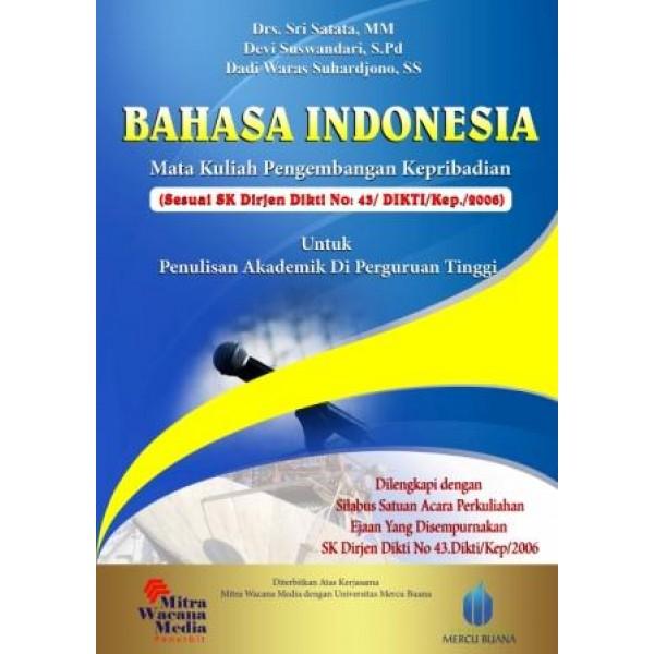 Bahasa Indonesia Mata Kuliah Pengembangan Kepribadian